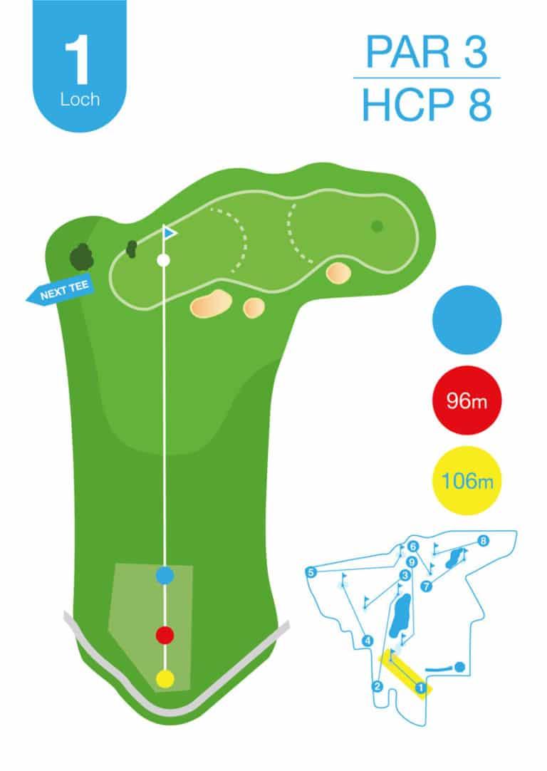 Golfplatz MurAuen Loch 1