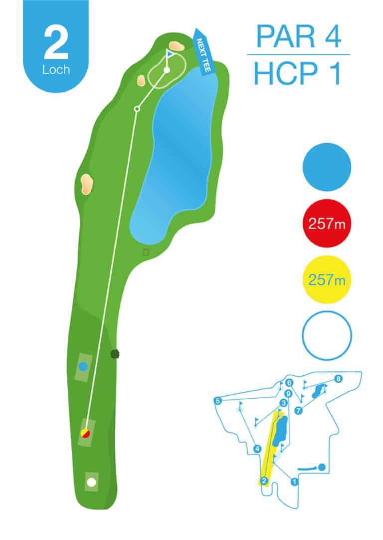 Golfplatz MurAuen Loch 2