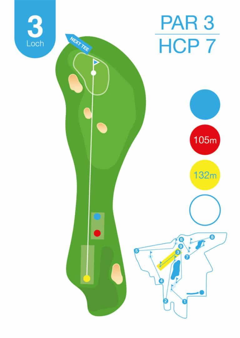 Golfplatz MurAuen Loch 3