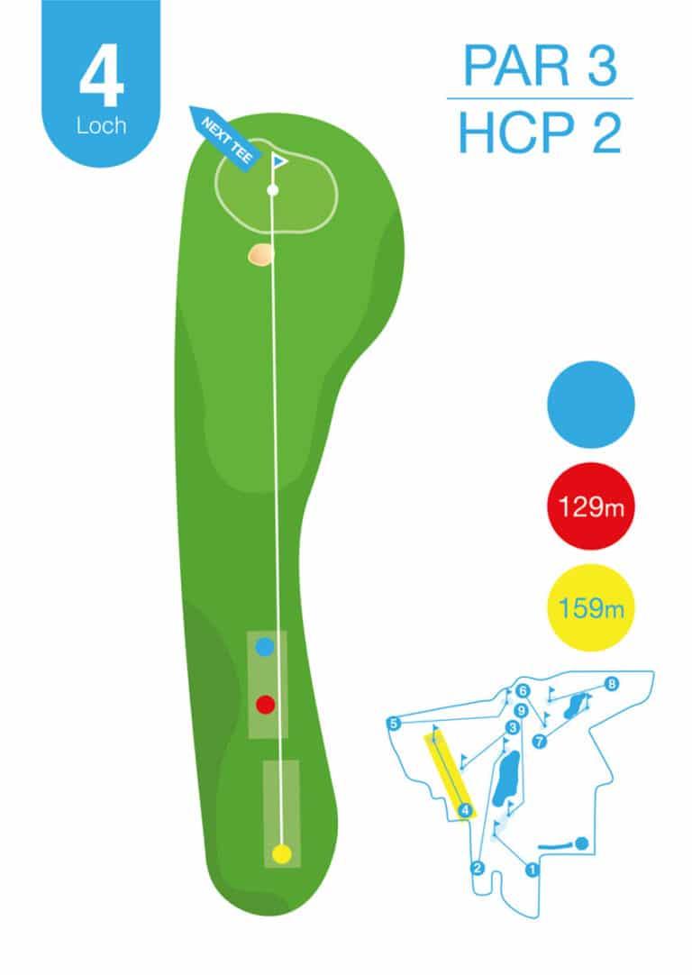 Golfplatz MurAuen Loch 4