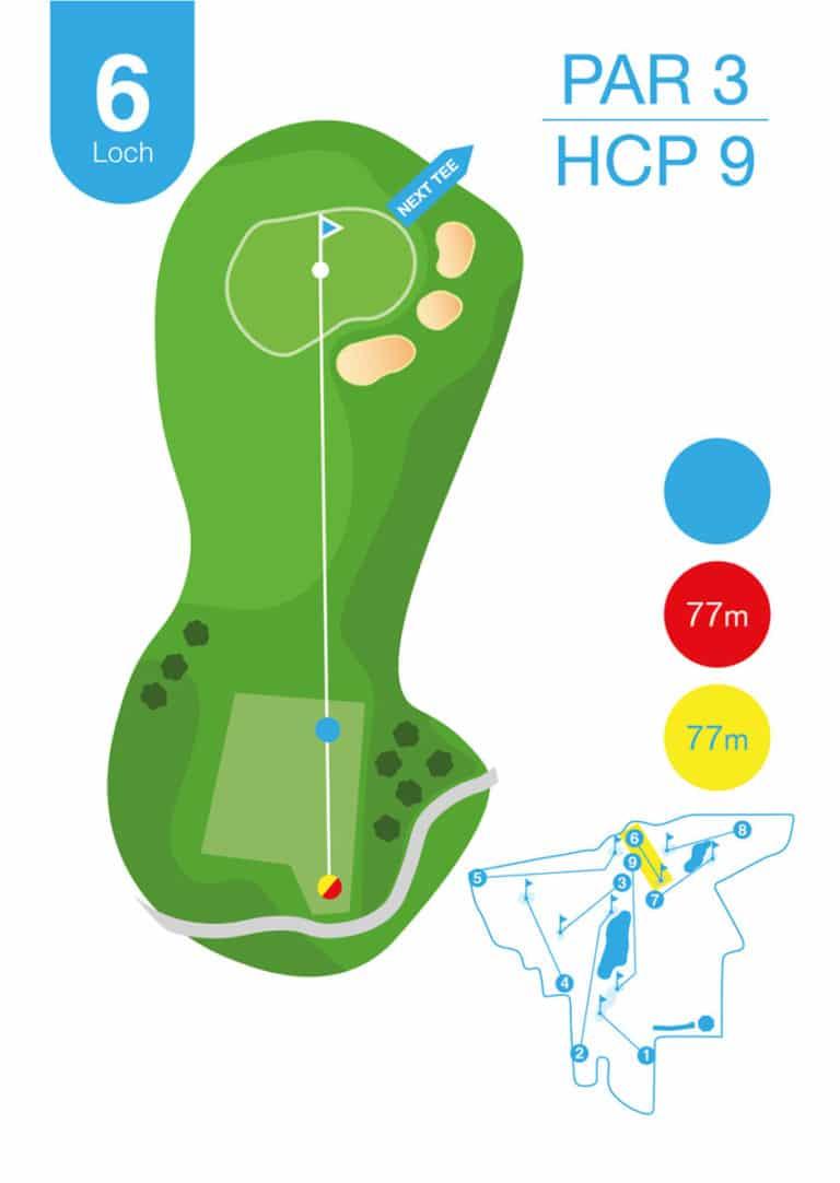 Golfplatz MurAuen Loch 6