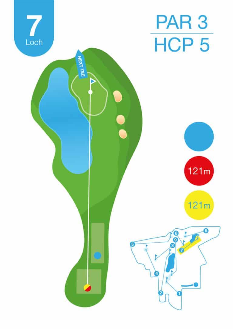 Golfplatz MurAuen Loch 7