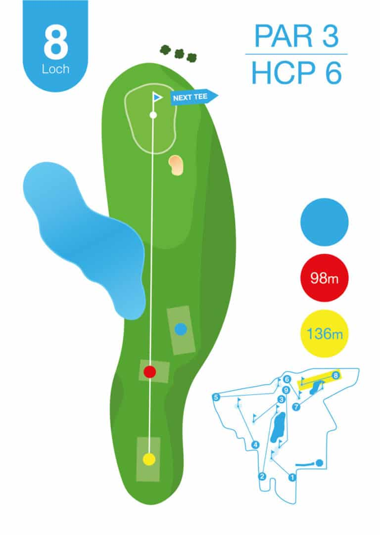 Golfplatz MurAuen Loch 8