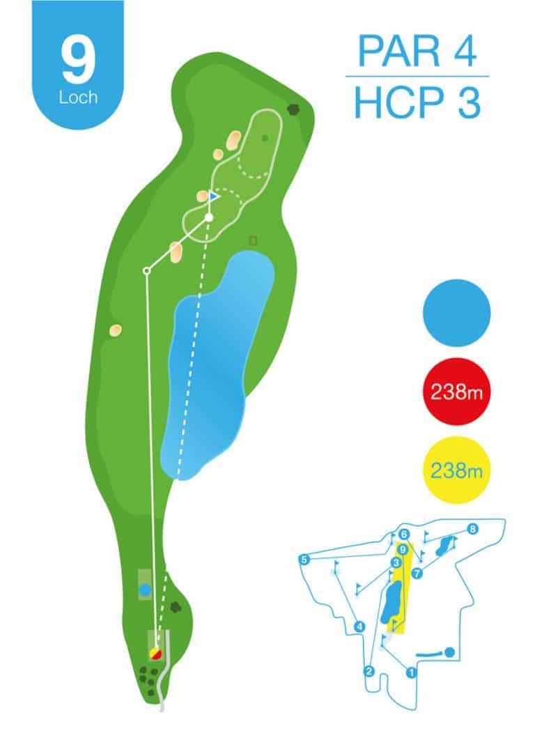 Golfplatz MurAuen Loch 9
